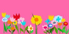 Free Pink Color Garden Illustration Royalty Free Stock Images - 6356959
