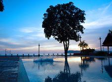 Free Sunset Splash Pool Stock Photos - 6357453