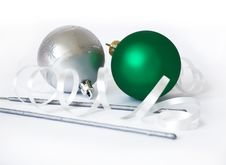 Free Christmas Spheres And Sparks Stock Image - 6357731