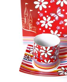 Free Tea Cup On A White Background Royalty Free Stock Image - 6357826
