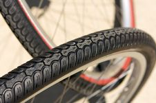 Free Close Up Of Bicycle Tires Stock Image - 6358141