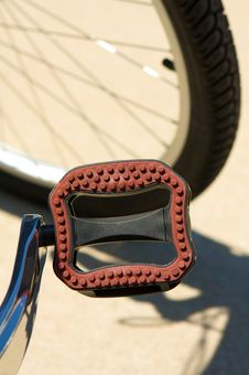 Free Close Up Of Bicycle Pedals Stock Photography - 6358142