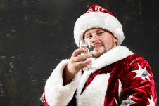 Free Santa Drinking Stock Photos - 6358433