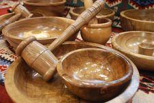 Free Handmade Wood Plates Stock Photo - 6358770
