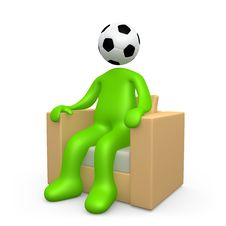 Addicted To Soccer Stock Photo