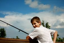 Free Boy Fishing Stock Photos - 6359203