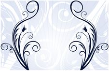 Free Abstract Blue Banner Royalty Free Stock Photos - 6359688