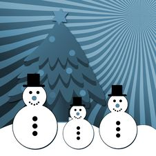 Free Snowman Family Royalty Free Stock Image - 6359696