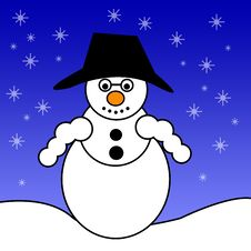 Free Snowman In Winter Stock Photography - 6359712