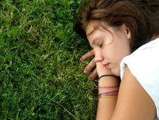 Free Resting Girl Stock Images - 6359754