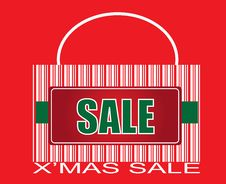 Free X Mas SALE Barcode Bag Royalty Free Stock Photos - 6359838
