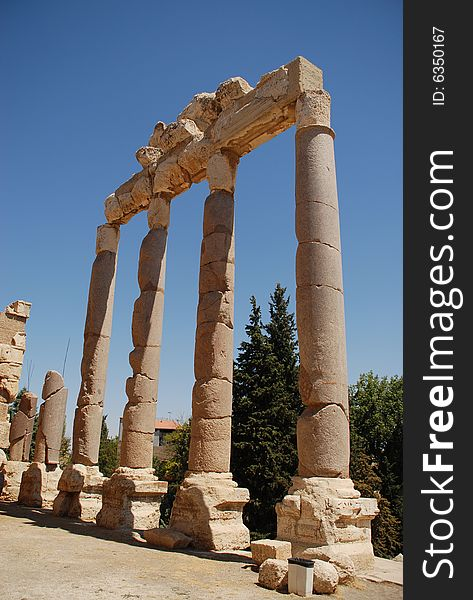 Roman ruins bacchus temple