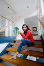 Free Sitting On Stairs Royalty Free Stock Image - 6360346