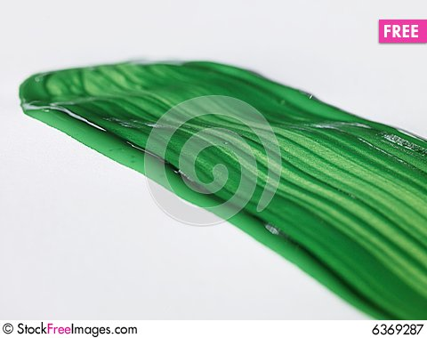 Free Green Brush Stroke Royalty Free Stock Photography - 6369287