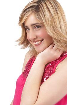 Free Portrait Of Beautiful Blonde Woman Royalty Free Stock Photo - 6360345