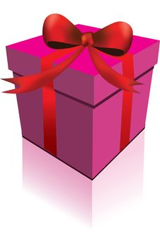 Free Gift Box With Red Strip Stock Images - 6360524