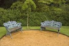 Free Benches In The Park Stock Image - 6360831