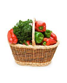 Free Vegetables In Basket Stock Image - 6361051