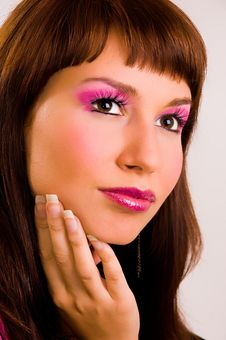 Free The Person With A Make-up Stock Photography - 6361792