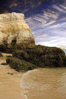 Free Rocky Coastal Beach In Portugal Stock Photos - 6362003