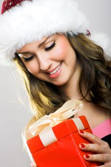 Free Christmas Portrait Of A Woman Royalty Free Stock Image - 6362806