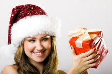 Free Christmas Portrait Of A Woman Royalty Free Stock Images - 6363329