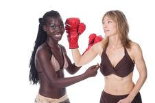 Free Female Boxers Royalty Free Stock Photos - 6363878