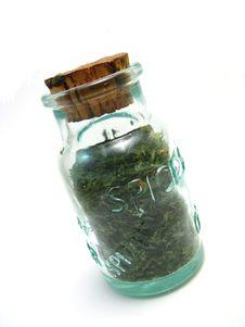 Free Jar Of Parsley Stock Image - 6363891