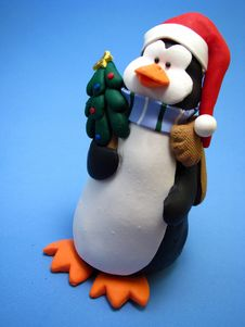Christmas Penguin Stock Images