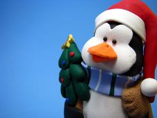 Christmas Penguin Royalty Free Stock Photo