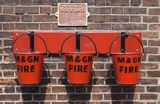 Free Three Fire Buckets Royalty Free Stock Photo - 6365405
