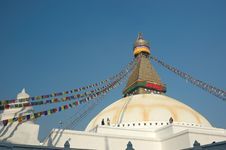 Boudhanath Stupa In Kathmandu Royalty Free Stock Photo