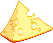 Free A Piece Of Cheese Royalty Free Stock Photos - 6367298