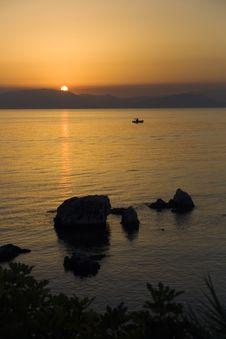 Free Sunrise Over Corfu Stock Photo - 6367820