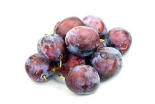 Free Stak Of Big,ripe Plums Stock Images - 6368074