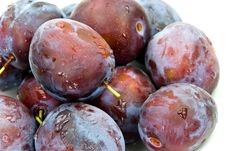 Free Stak Of Big,ripe Plums Stock Photography - 6368082