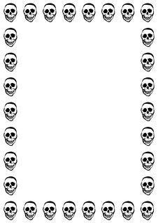 Free Skulls White Stock Photo - 6368380