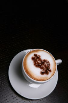 Free Cappucino With Dollar Sign Royalty Free Stock Photography - 6369027