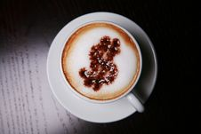 Free Cappucino With Dollar Sign Royalty Free Stock Photo - 6369075