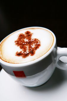 Free Cappucino With Dollar Sign Stock Image - 6369101