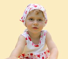 Free A Little Girl Lies On The Floor Royalty Free Stock Photography - 6369167