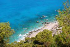 Lefkada Coast Royalty Free Stock Images