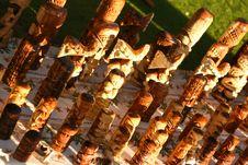 Free Hawaiian Tikis In A Row Stock Images - 6369404