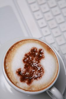 Free Cappucino With Dollar Sign Stock Photos - 6369423