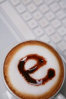 Free Coffee With E Sign On Keyboard Royalty Free Stock Photo - 6369455