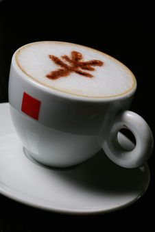 Cappucino With RMB Sign Royalty Free Stock Images