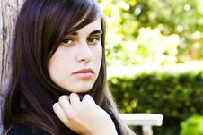 Free Young Staring Woman Royalty Free Stock Photography - 6369967