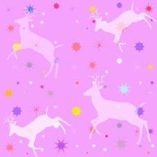 Free Pink Reindeer Pattern Royalty Free Stock Photo - 63693515