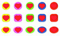 Free Button Heart SET Royalty Free Stock Photography - 6370607