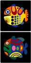 Free Two Color Fishes Royalty Free Stock Photo - 6371415